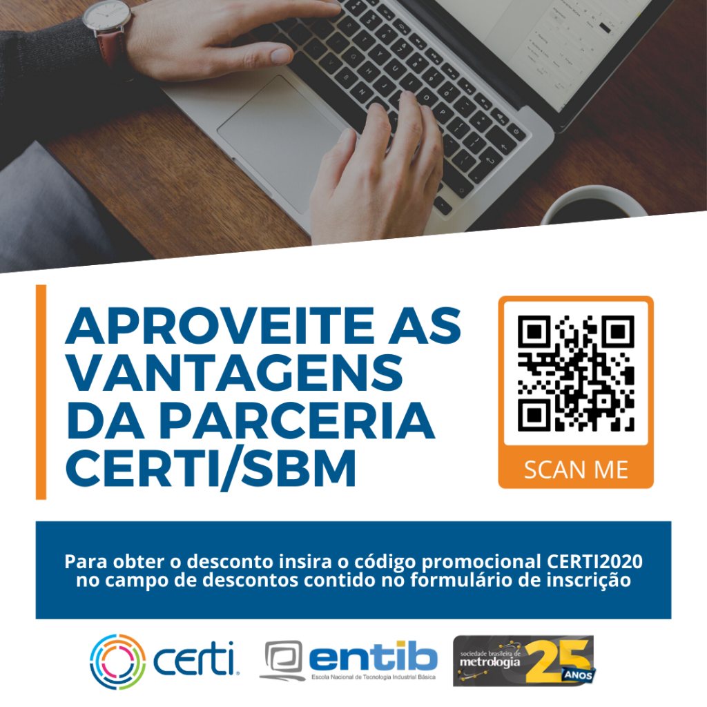 Parceria CERTI e SBM cursos online de Metrologia